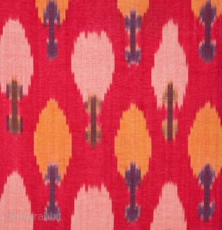 Central Asian Ikat Panel ( Backed on linen )68 x 107 cm / 2'2'' x 3'6''