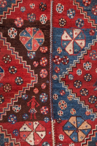 Afshar Rug , done in two halves 168 x 237 cm / 5'6'' x 7'9''
