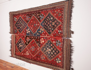 Luri Rug , done in two halves 168 x 237 cm / 5'6'' x 7'9''