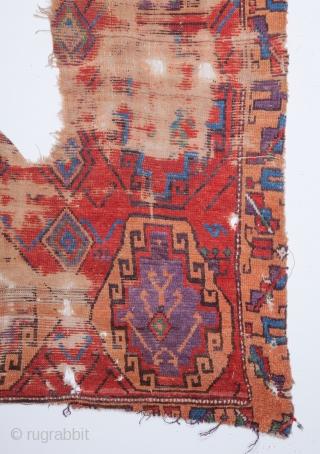 Central Anatolian Rug Fragment 111 x 208 cm / 6'2'' x 6'9''