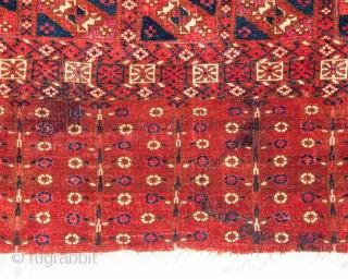 Turkmen Tekke Chuval with silk Highlights 74 x 113 cm / 2'5'' x 3'8''