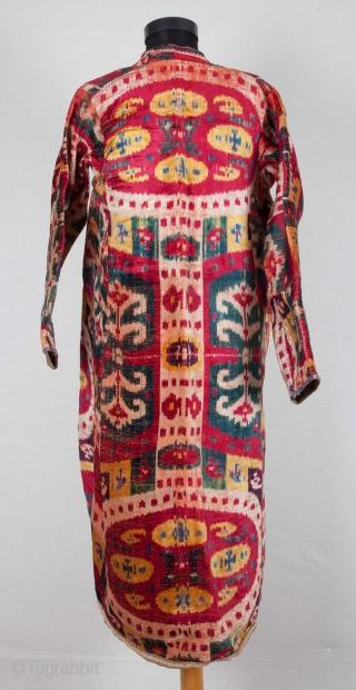 Uzbek Velvet Ikat Chapan