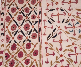 Unusual Suzani from Tajikstan, Central Asia 163 x 213 cm / 5'4'' x 6'11''