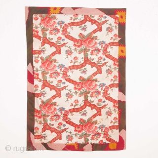 Pure silk Ikat Panel with a european Print Lining 90 x 132 cm / 35.43 x 51.97 in.