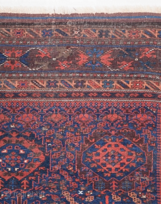 Baluch Main Rug with some old repairs 223 x 274 cm / 7'3'' x 8'11''