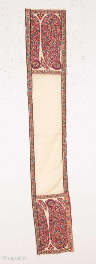 Early Kashmir Shawl Fragment 20 x 130 cm / 7.87 x 51.18 IN.