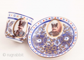 Gardner Ceramic Set of 18 pieces made for Persian Market late 19th
