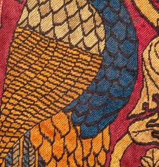 European silk Embroidery in fine stitches  69 x 86 cm / 2'3'' x 2'9''