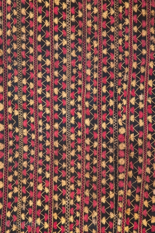 Phulkari with Indigo background 