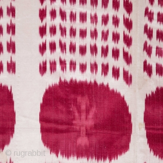Ikat Panel, lined with a plain cotton fabric 113 x 220 cm / 3'8'' x 7'2''