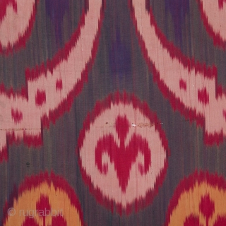 Central Asian Uzbek Silk Ikat Panel 90 x 92 cm / 2'11'' x 3'0''