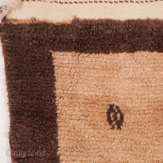 Central Anatolian Half and Half Angora and Wool mix Tulu Rug