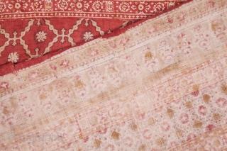 Uzbek Hand Block printed Cotton Blanket Top, Early 20th c. 181 x 232 cm / 5'11'' x 7'7''