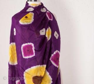 Central Asian Uzbek tie-dye ( cloudy, light and bright ) 132 x 258 cm / 4'3'' x 8'5''