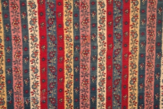Indian Kashmir Shawl Fragment ( professionally backed on linen )  55 x 75 cm / 1'9'' x 2'5''