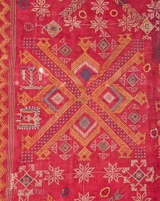 Indian Wedding Shawl  Late 19th / Early 20th C. 109 x 195 cm / 3'6'' x 6'4''