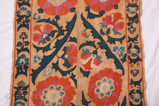 Central Asian Uzbek Suzani Fragment  