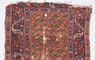 Persian Rug Fragment as found 107 x 217 cm / 3'6'' x 7'1''