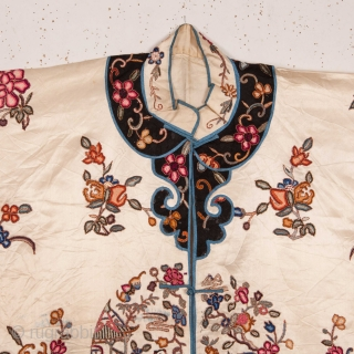 Chinese Silk Satin Robe 1900s