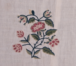 European ( Probably English ) Embroidery on linen 266 x 271 cm /8'8'' x 8'10''