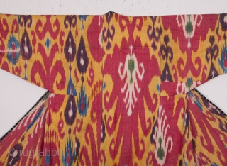 Central Asian Uzbek Ikat Chapan