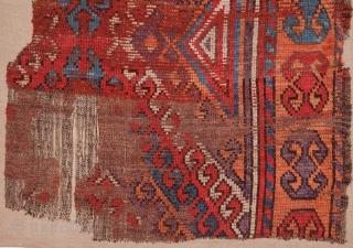Central Anatolian Rug Fragment 86 x 115 cm / 2'9'' x 3'9''