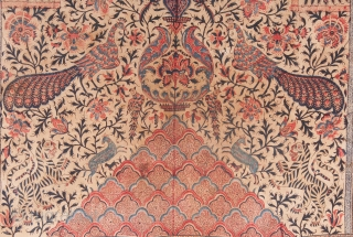Qalamkar Panel , possibly Indian made for Persian Market. 116 x 202 cm / 3'9'' x 6'7''