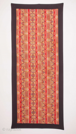 Late 19th C. Russian Roller Printed Cotton Cloth 92 x 255 cm