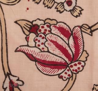 Anatolian Block Printed Blanket Top 165 x 186 cm / 5'4'' x 6'1''