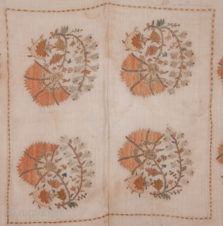 Ottoman Embroidery  92 x 100 cm / 36 x 30 inches