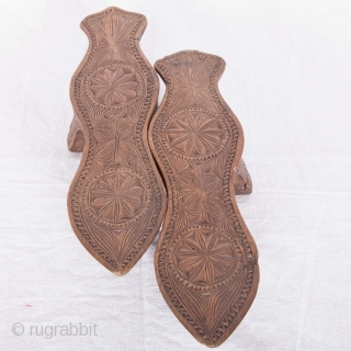 Late 19th / Early 20th Century Ottoman Turkish Bath Clogs (Nalin in Turkish)