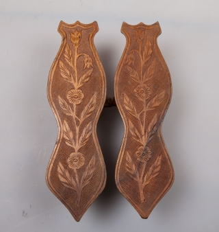 Ottoman Turkish Bath Slippers ( Nalin) late 19th , early 20th c.