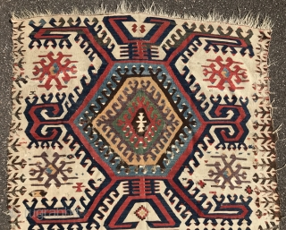 Early anatolian kilim with superb colors