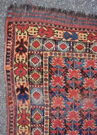 FLOWERS,FLOWERS,... early Beshir rug, size 217x112cm