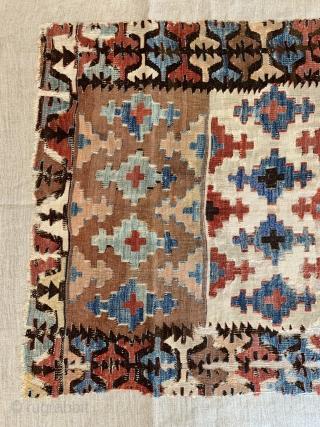 Rare Anatolian kilim , small size Professional mounted