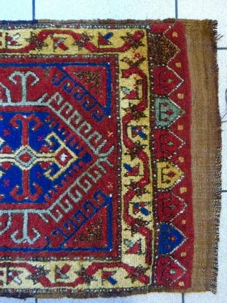 19th Century Anatolian yastik in mint condition