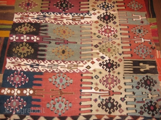 REYHANLI kilim fragment. 365 x 80 cm  there are some dark spots in the middle you can see in the additional image. i can sed more images on request