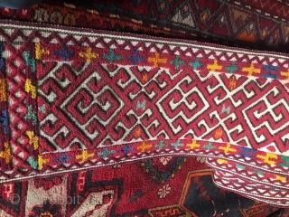Kazakhstan, Central Asian (Non-Turkmen) basic band for Yurt, 30 X 1450 1950, cm.
