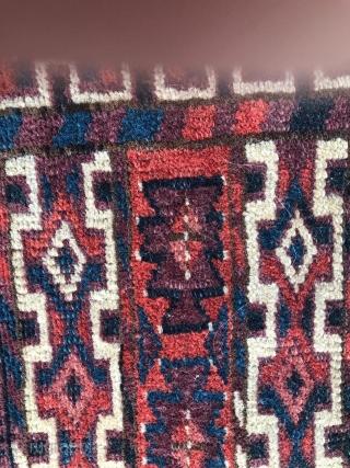 Antique Turkmen Ensi circa 1900's , size: 120 x 165 cm. (there is a hole)