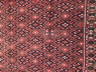 Soumack,(Kilim) Yomut Turkmen 290 x 180 Cm. In perfect condition.