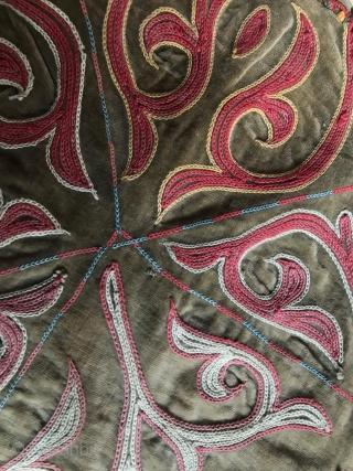 Kazakh, tuskiiz, East Kazakhstan,carpet on the wall of the Yurt (embroidery) 1930-40, 200X110.
