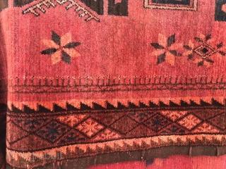 Kazakh , Central Asian ( non-Turkmen),  cotton base, requires cleaning,  1940-50, size: 180X320 cm.