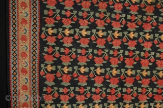 #12999 Antique Bijar Kelim, 266x127cm, Circa 1900, in very good condition apart from a 2cm reweave at one end,as shown in the image, which is very well done. Wonderful colours and a  ...