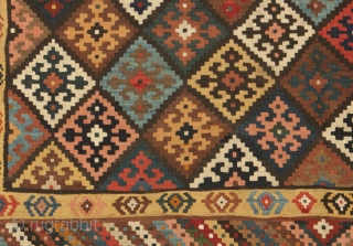 12941 Antique Bakhtiar Kilim 528x215cm Circa 1900