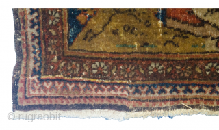 Antique Isfehan Rug 212x153cm. Signed Molla Samad