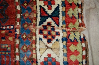 Antique Shahsavan Runner 312x98cm, early 19th Century, with stunning colours and in reasonable condition, as shown in images.