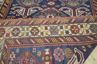 M216 Antique Shirvan Rug 333x202cm late 19th Century. Beautiful Shirvan rug with an excellent size that is rarely found. This piece is in very condition with even low pile through out. There  ...