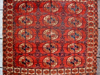 AN TEKKE MAT WITH DASHING ELEM & GURBAGHE MINORES