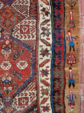 Folky serab type somewhat long rug ( wayne, have your people call my people)