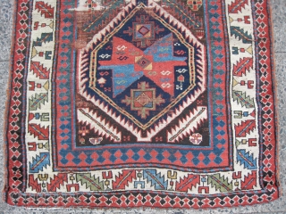 Some kinda NWP Fraggy Long Rug with Shah Sewan elwments & intriguing weft changes